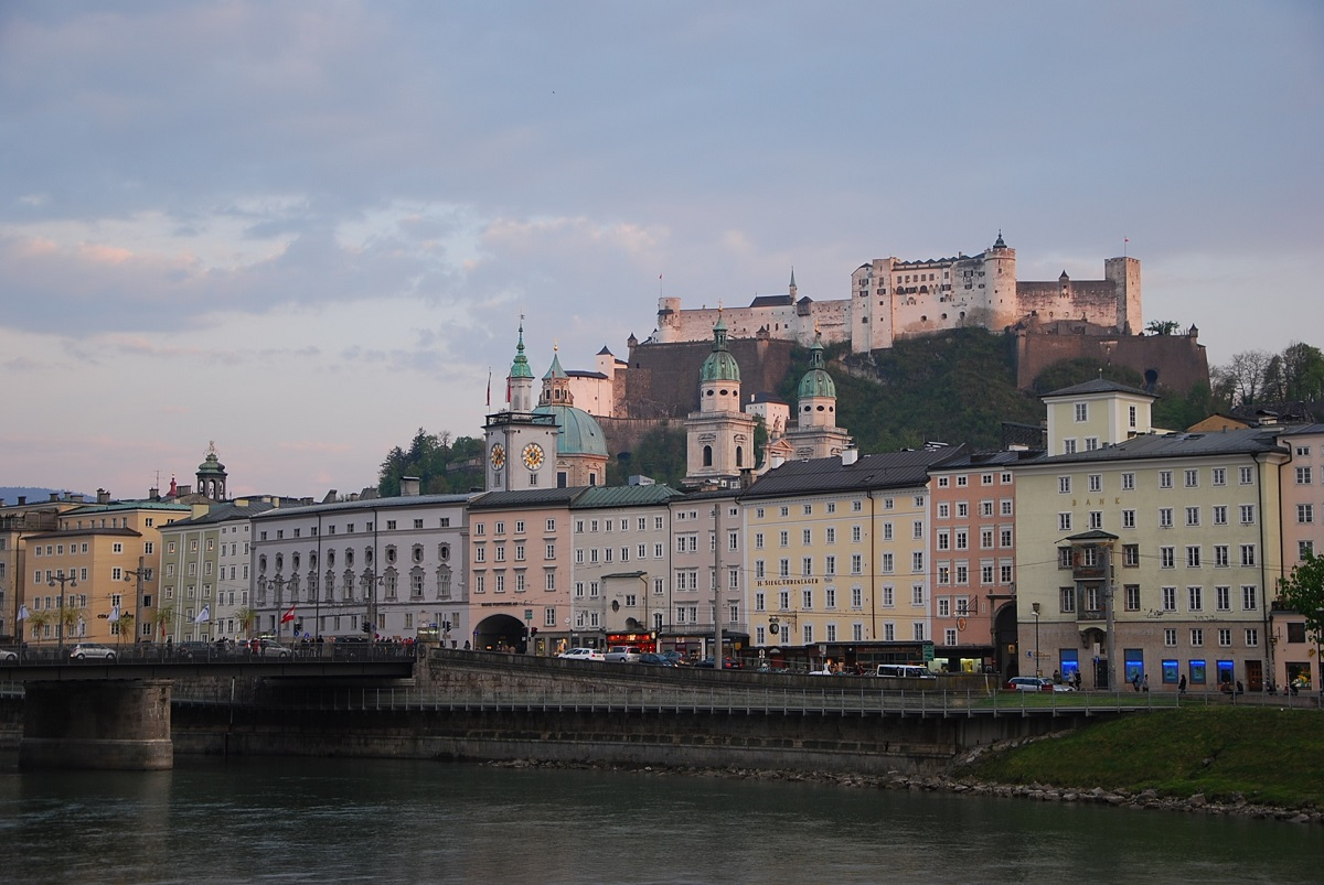 Salzburg View from Salzach River