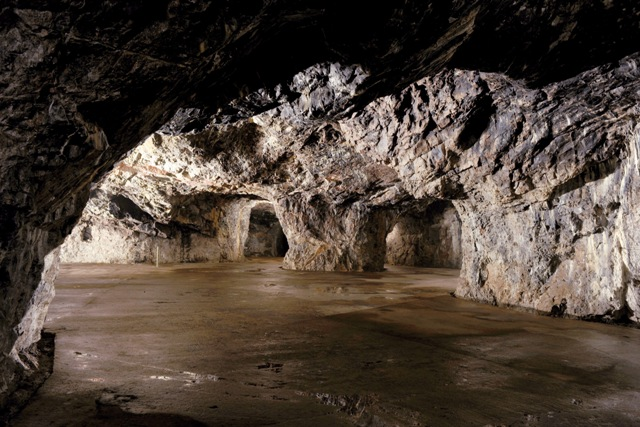 The Moravian Karst - cave Výpustek - secred command workplace and temple of Křtiny