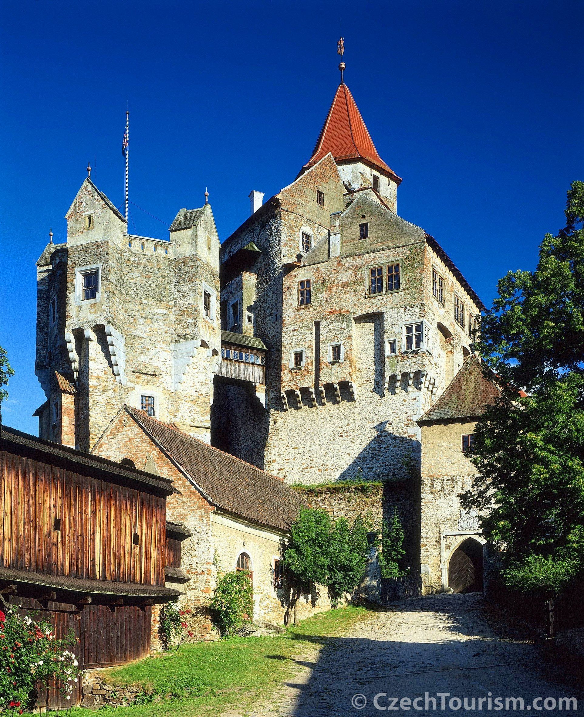 Poerta Coeli monastery and the gothic castle Pernštejn