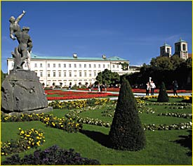 Mirabell Palace and Mirabell gardens